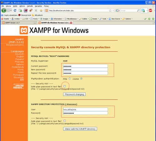 Xampp security.png